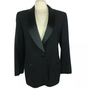 Christian Dior Jacket Blazer Black Suit Size 10 BF